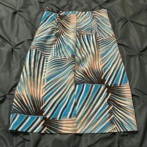 A-line multi-color skirt